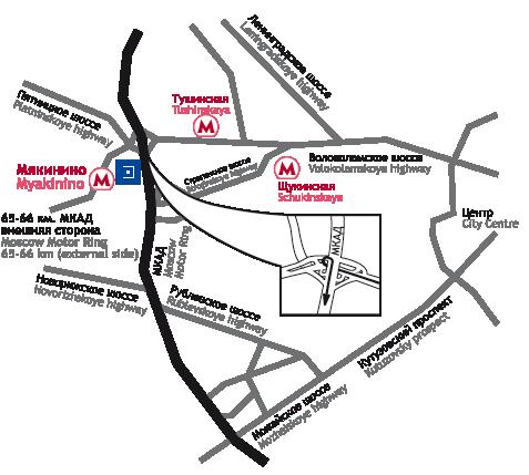 План проезда к месту проведения проекта